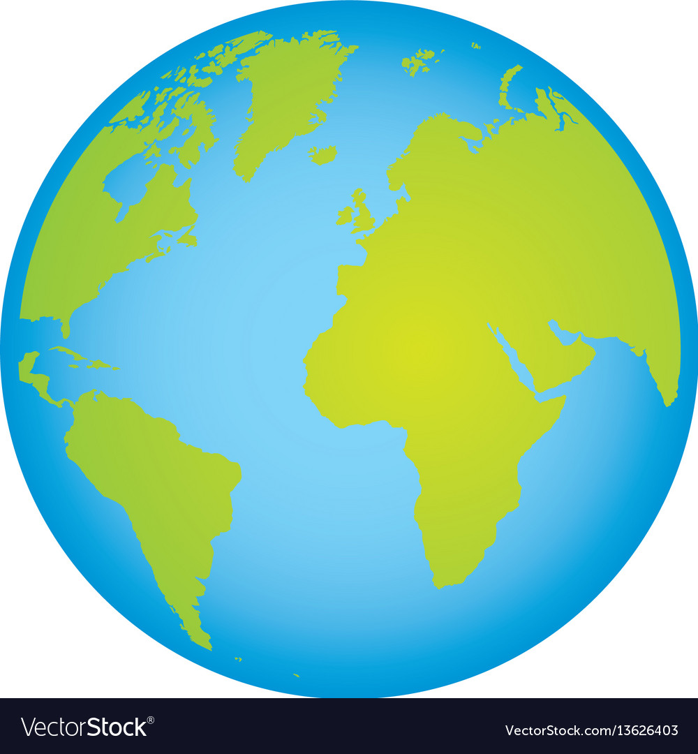 Colorful earth world map with continents in 3d vector image colorful earth world map with continents in 3d vector image gumiabroncs Images
