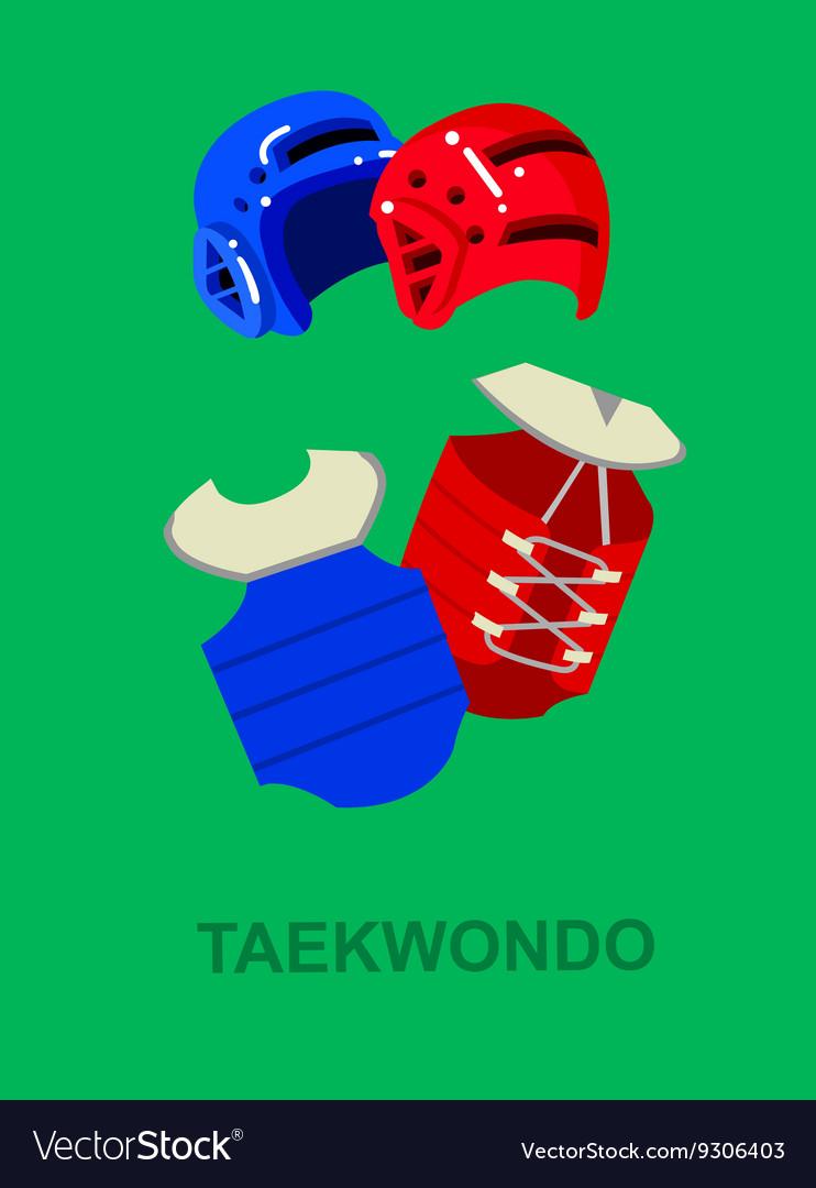For martial art poster Taekwondo vector image
