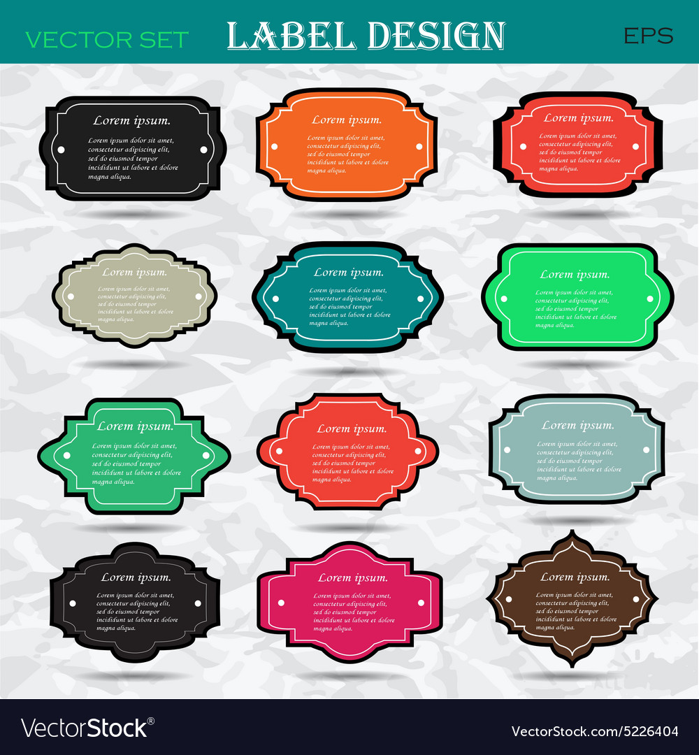Collection of vintage retro labels badges and vector image