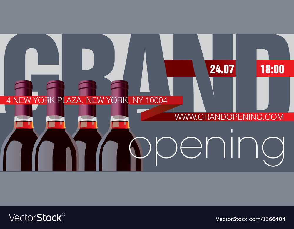 Grand Opening Flyer Template Royalty Free Vector Image