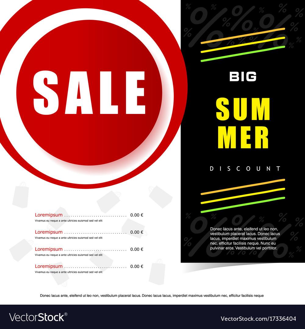 Summer sale discount icon vector image