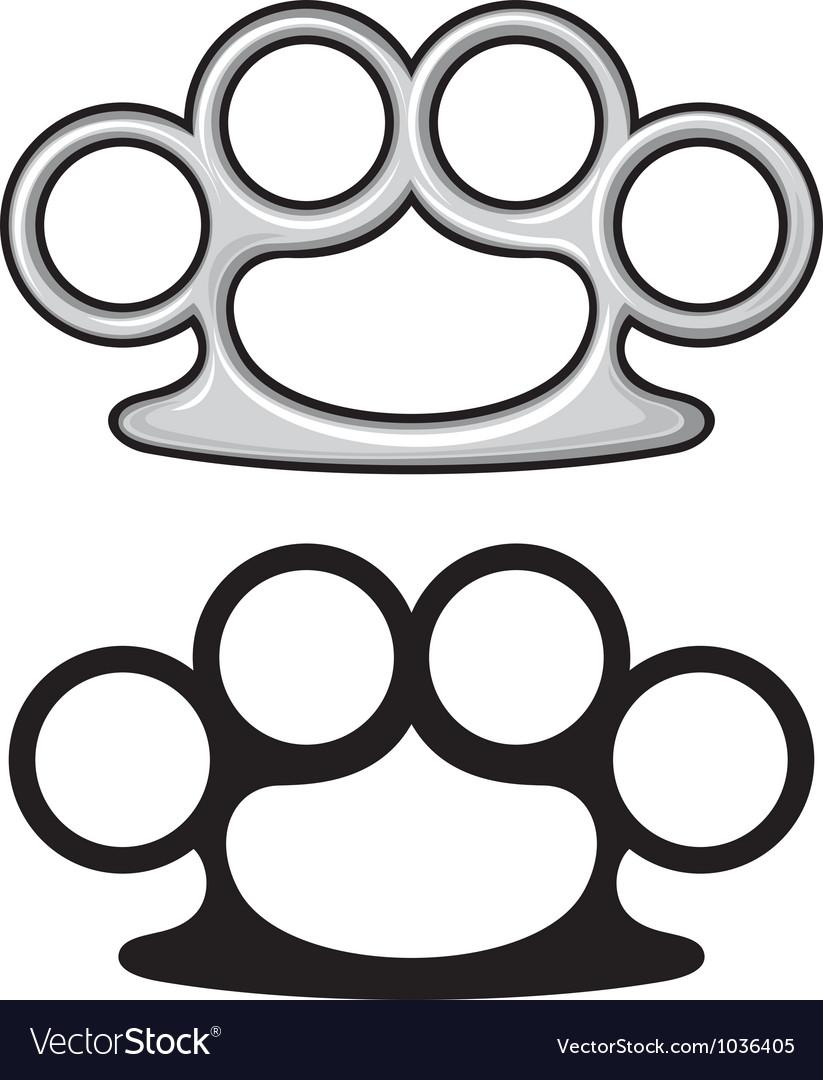 Brass knuckles vector image