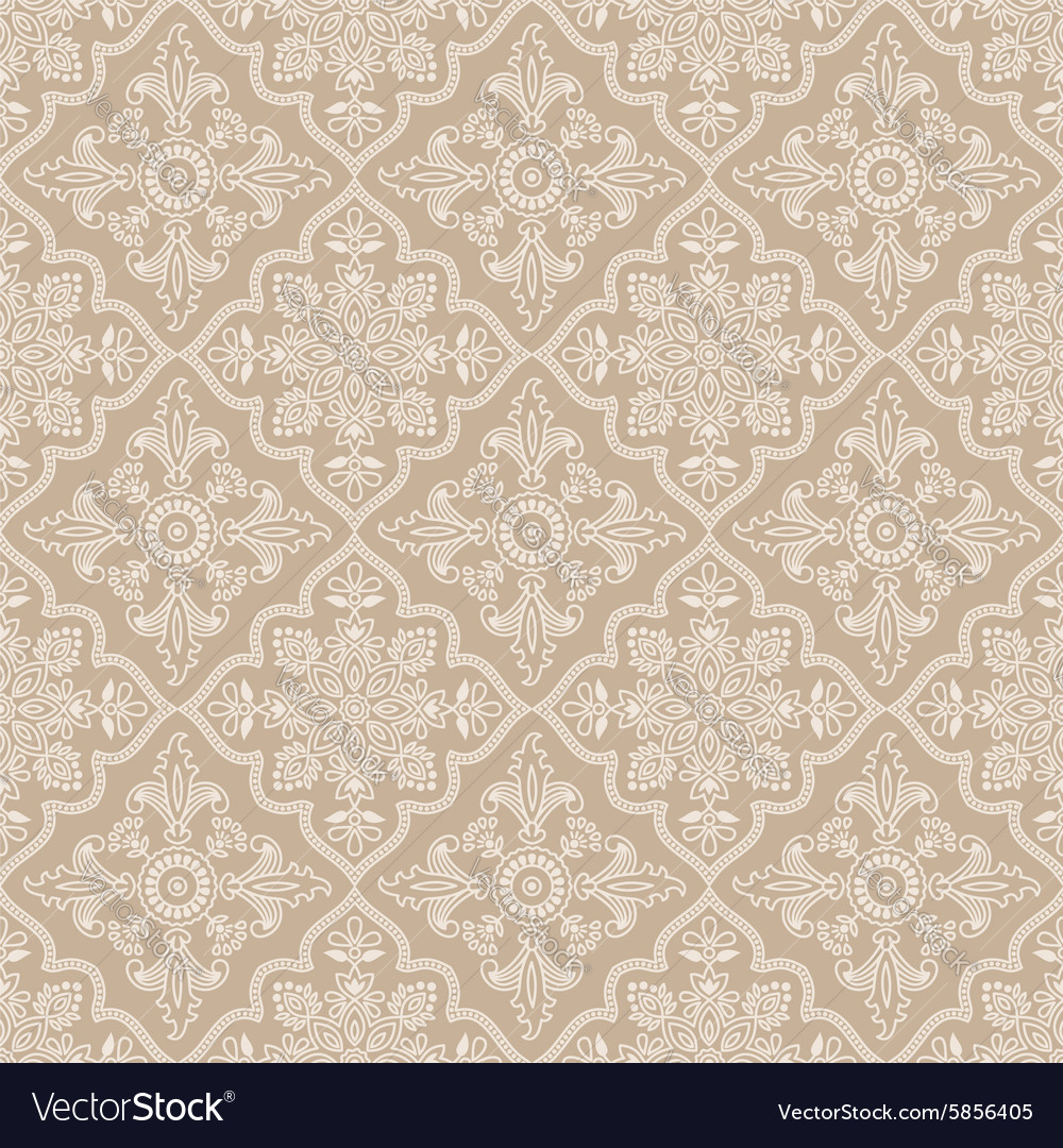 Seamless pattern indian ornament vector image