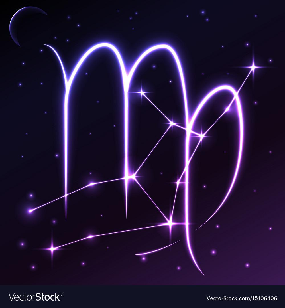 Space symbol of virgo of zodiac and horoscope vector image buycottarizona Gallery