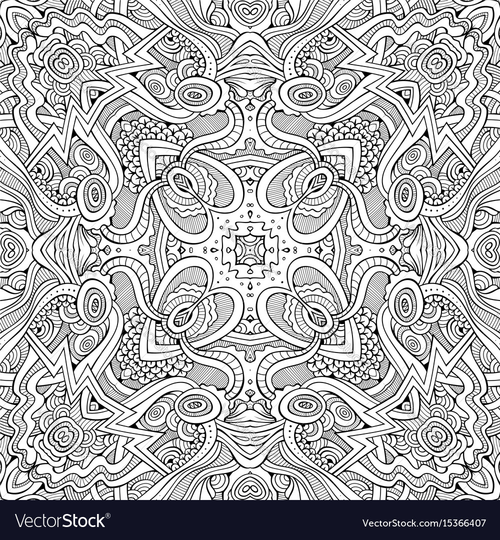Abstract ethnic sketchy background vector image