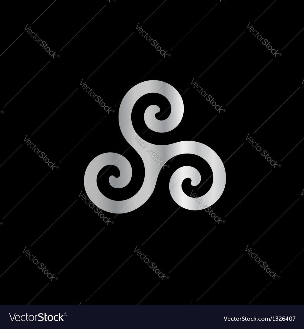 Celtic Neopaganism triple spiral triskelion vector image