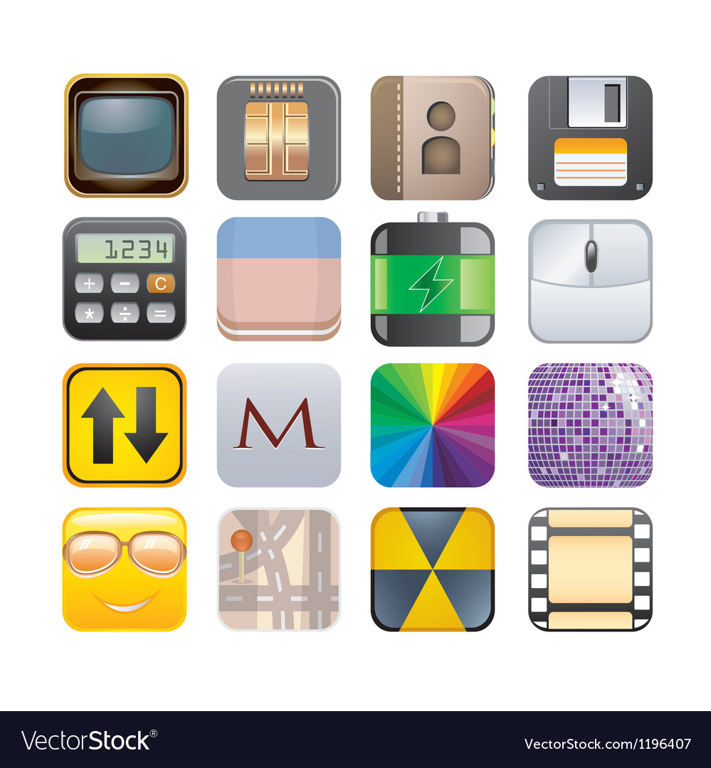 Set of apps vector image