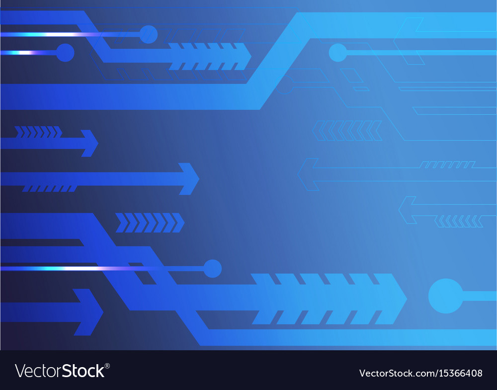 Blue arrows abstract background vector image