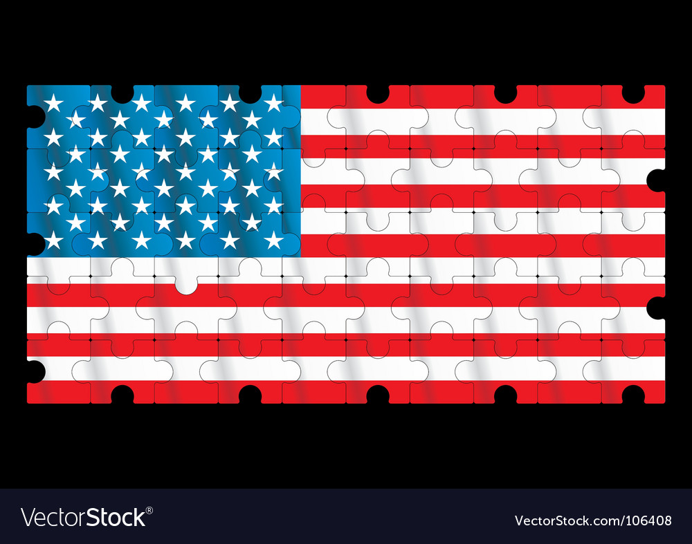 Puzzle flag vector image