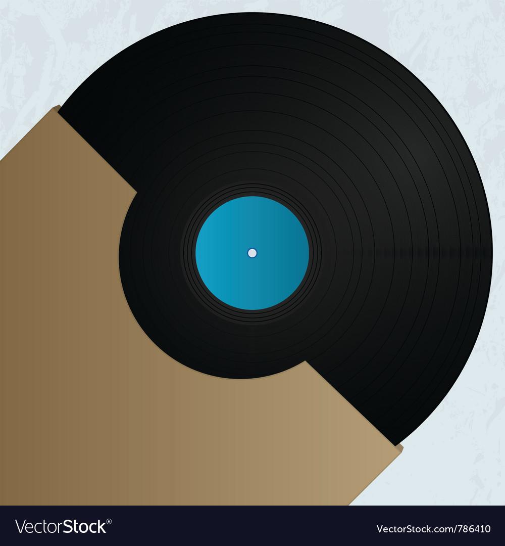 Vinyl cover art Vector Image
