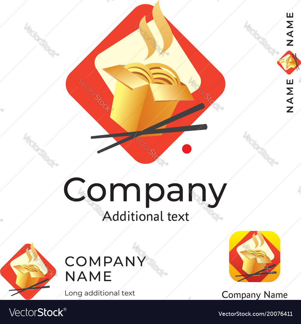 Asian traditional food logo modern identity vector image