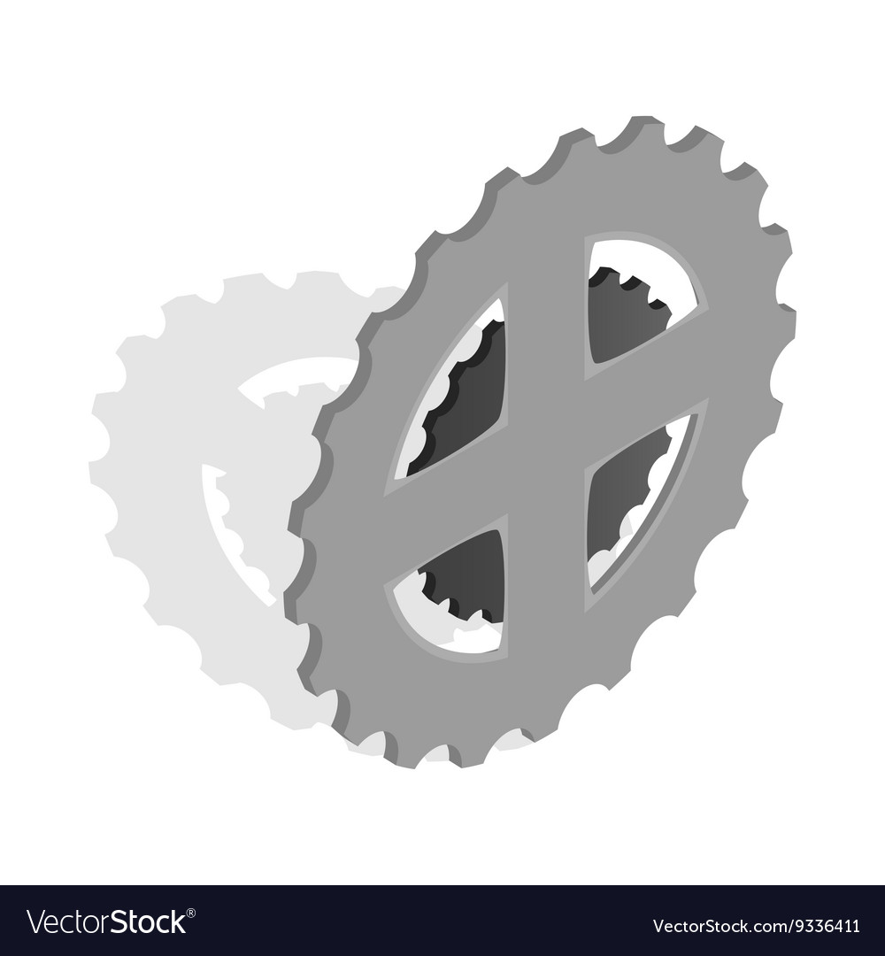 Bike chain star icon isometric 3d style vector image