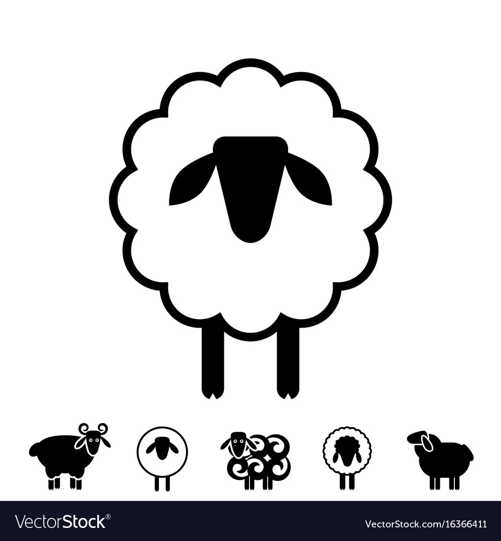 Sheep or ram icon logo template pictogram Vector Image