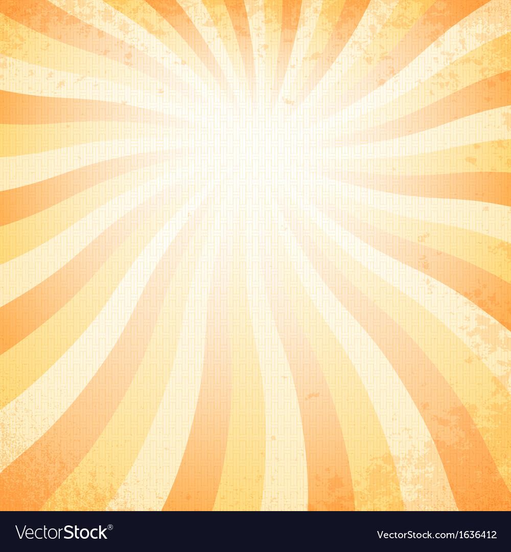 Sunset vintage background vector image