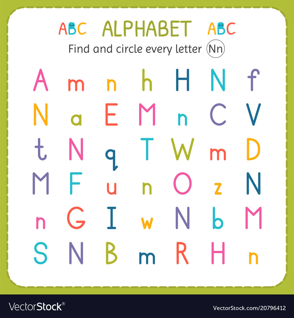 Letter N Worksheet Vector Images 39
