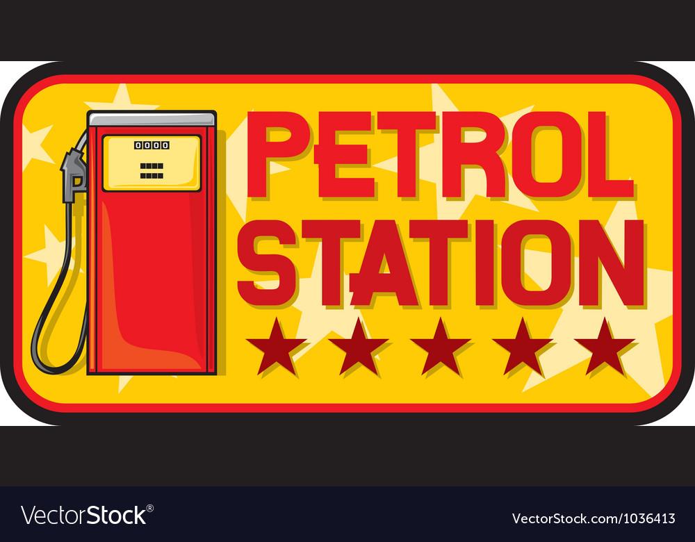 Petrol station vector image