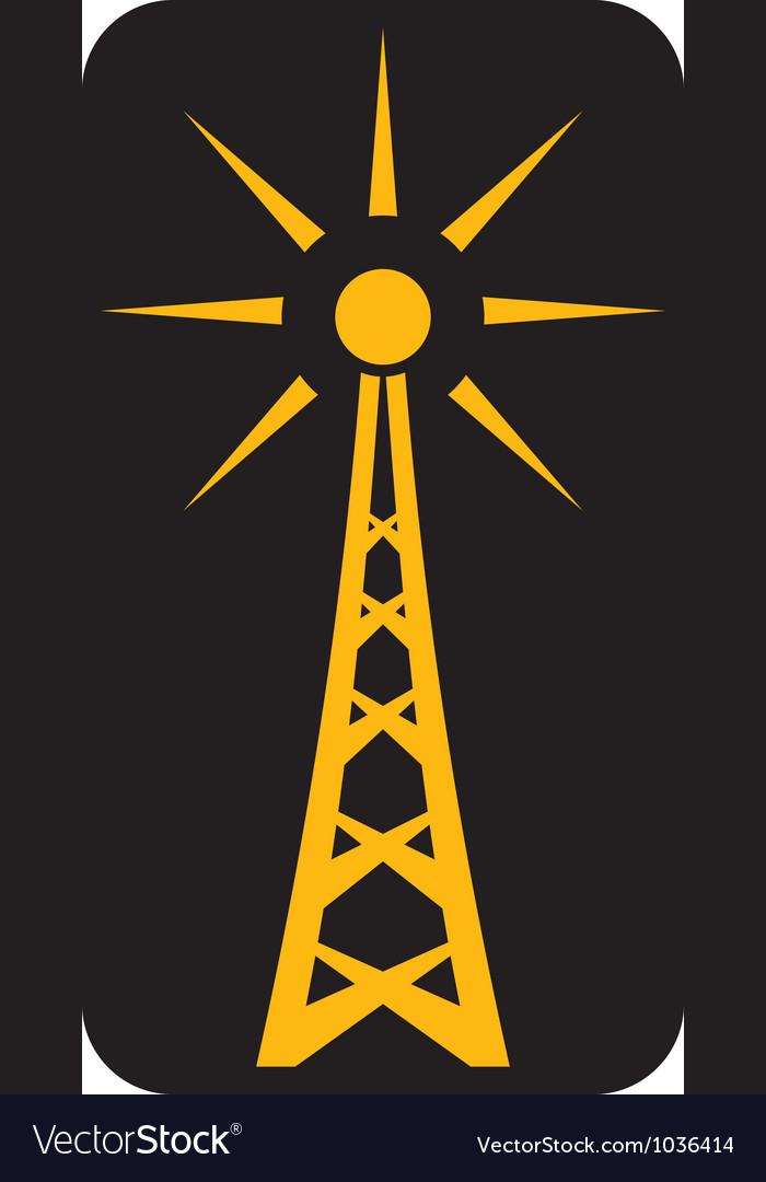 Radio antenna vector image