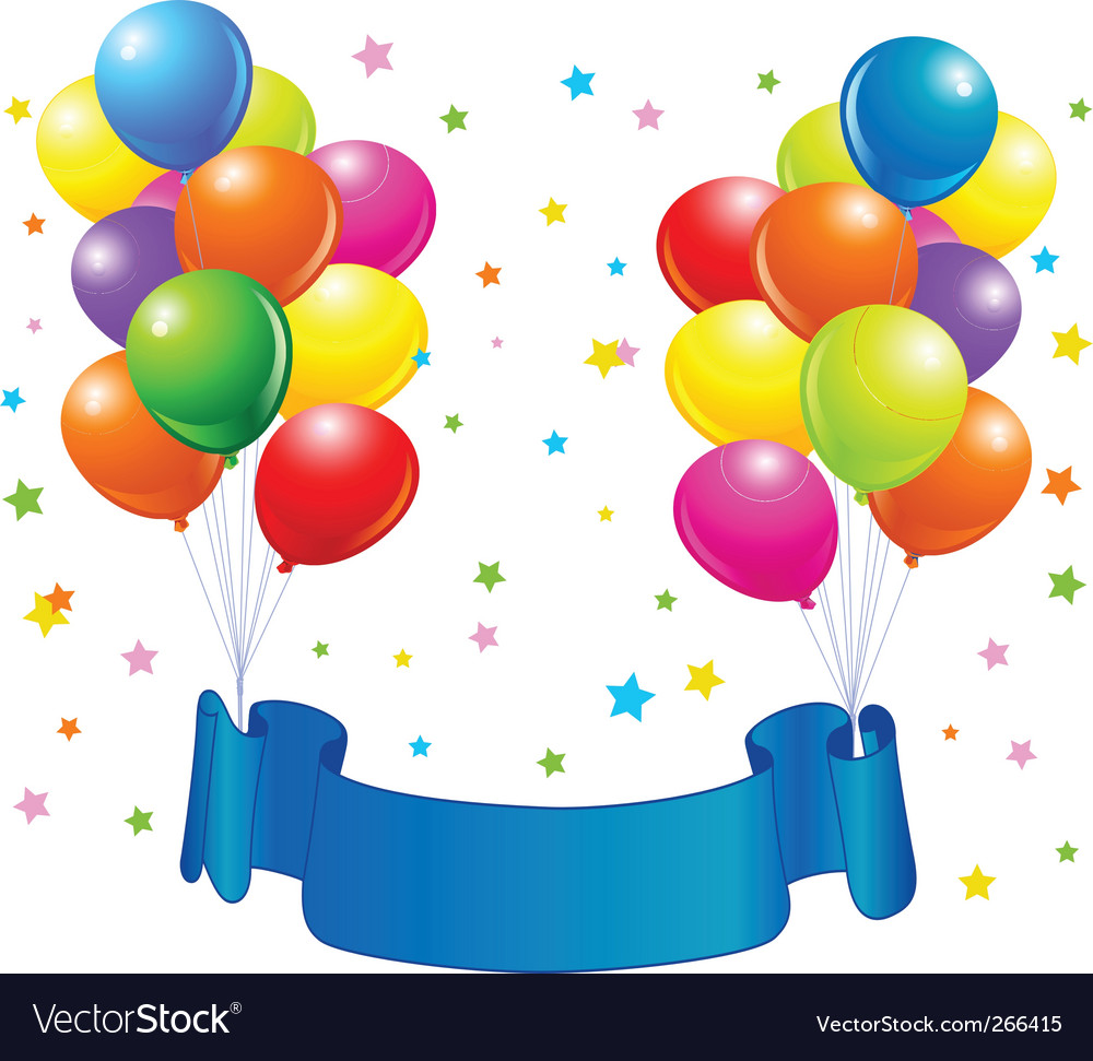 birthday balloons design royalty free vector image