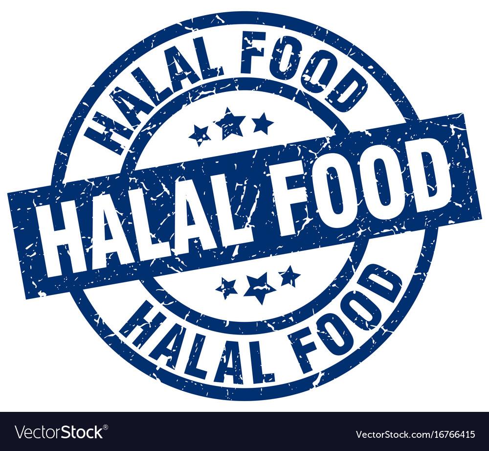 Halal food blue round grunge stamp royalty free vector image halal food blue round grunge stamp vector image buycottarizona