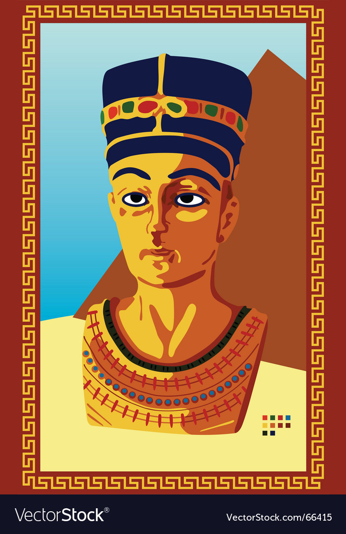 Statue of pharaoh vector image