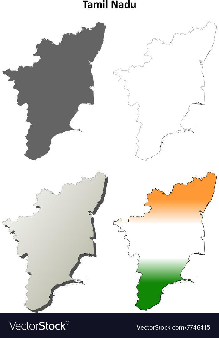Tamil nadu blank outline map set royalty free vector image tamil nadu blank outline map set vector image gumiabroncs Choice Image