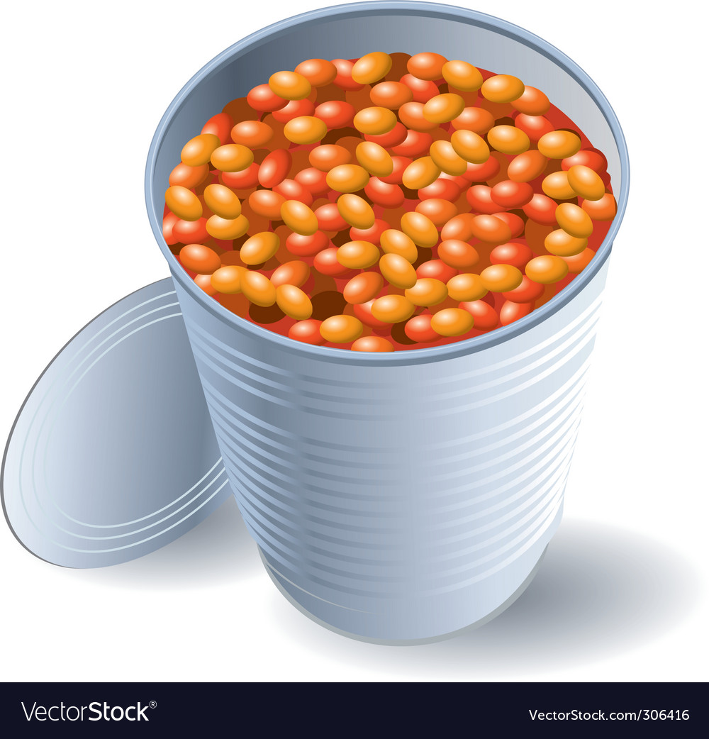 Can of beans vector image
