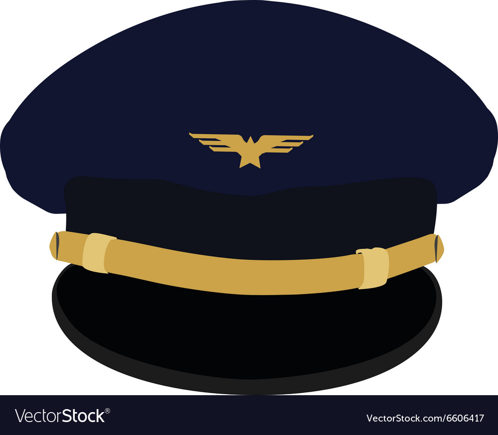 Pilot cap with badge Royalty Free Vector Image