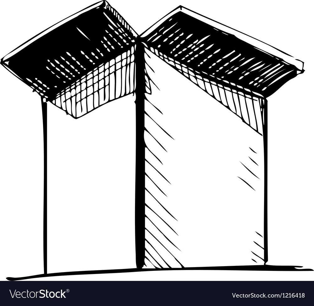 Box icon vector image