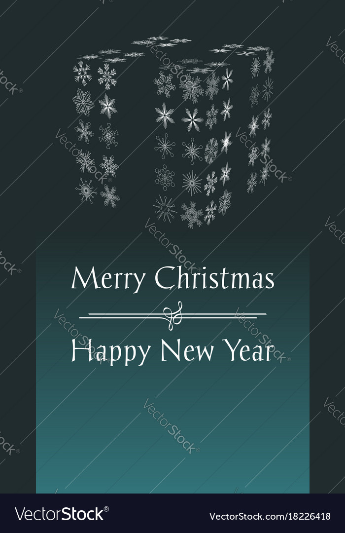 Christmas and new year greeting card with text vector image