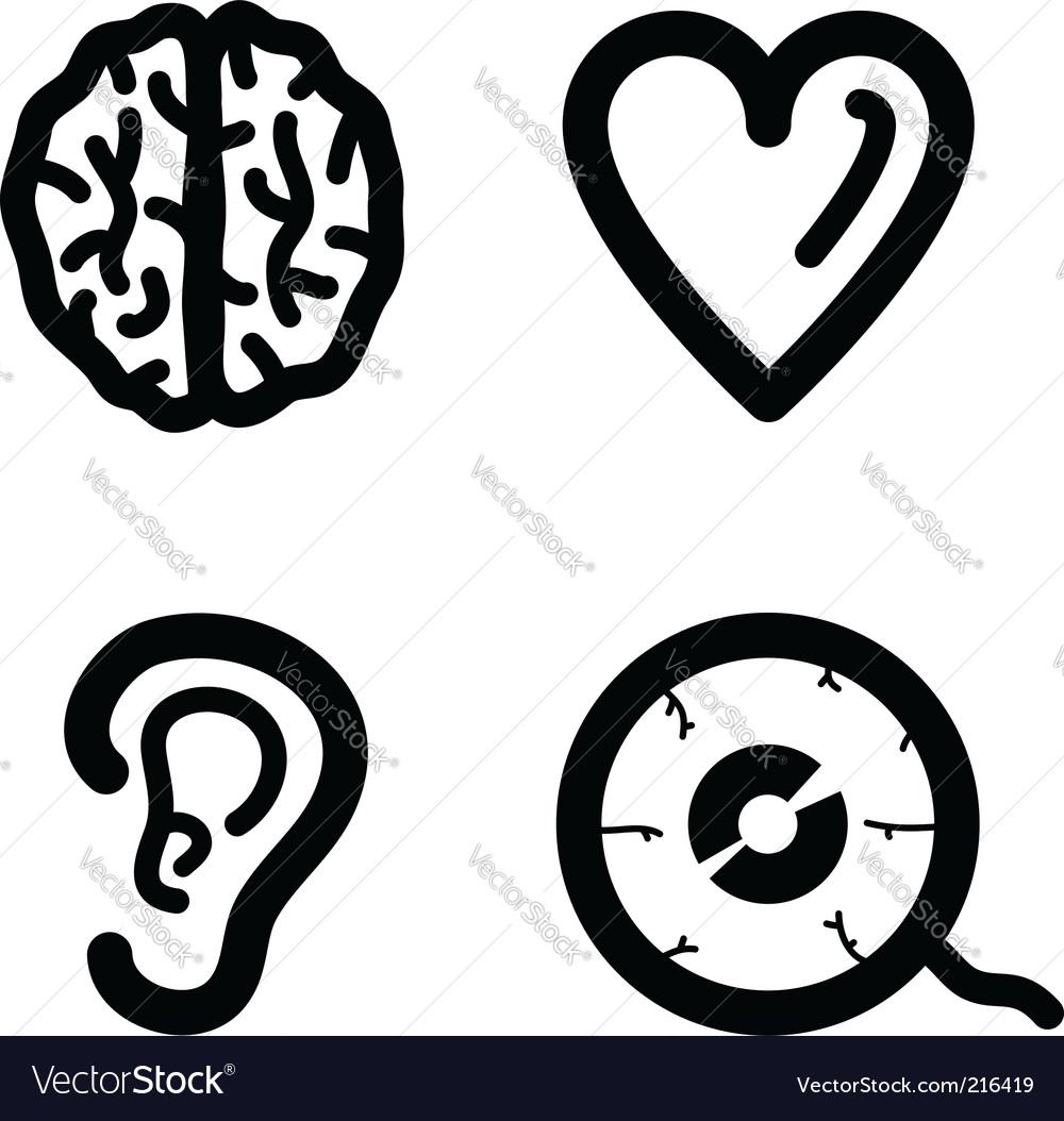 Biology set vector image
