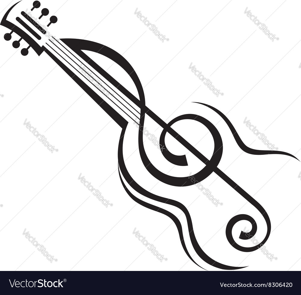 Image of guitar vector image