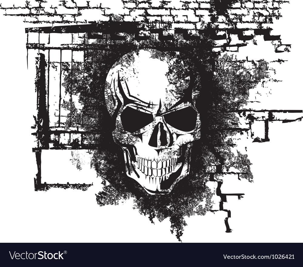 Human Halloween Skull Vector Image