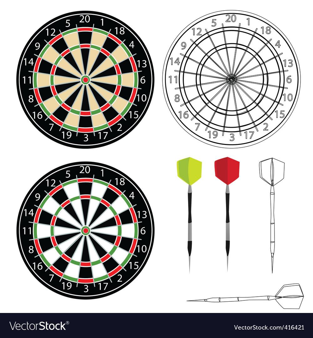 Dartboards vector image