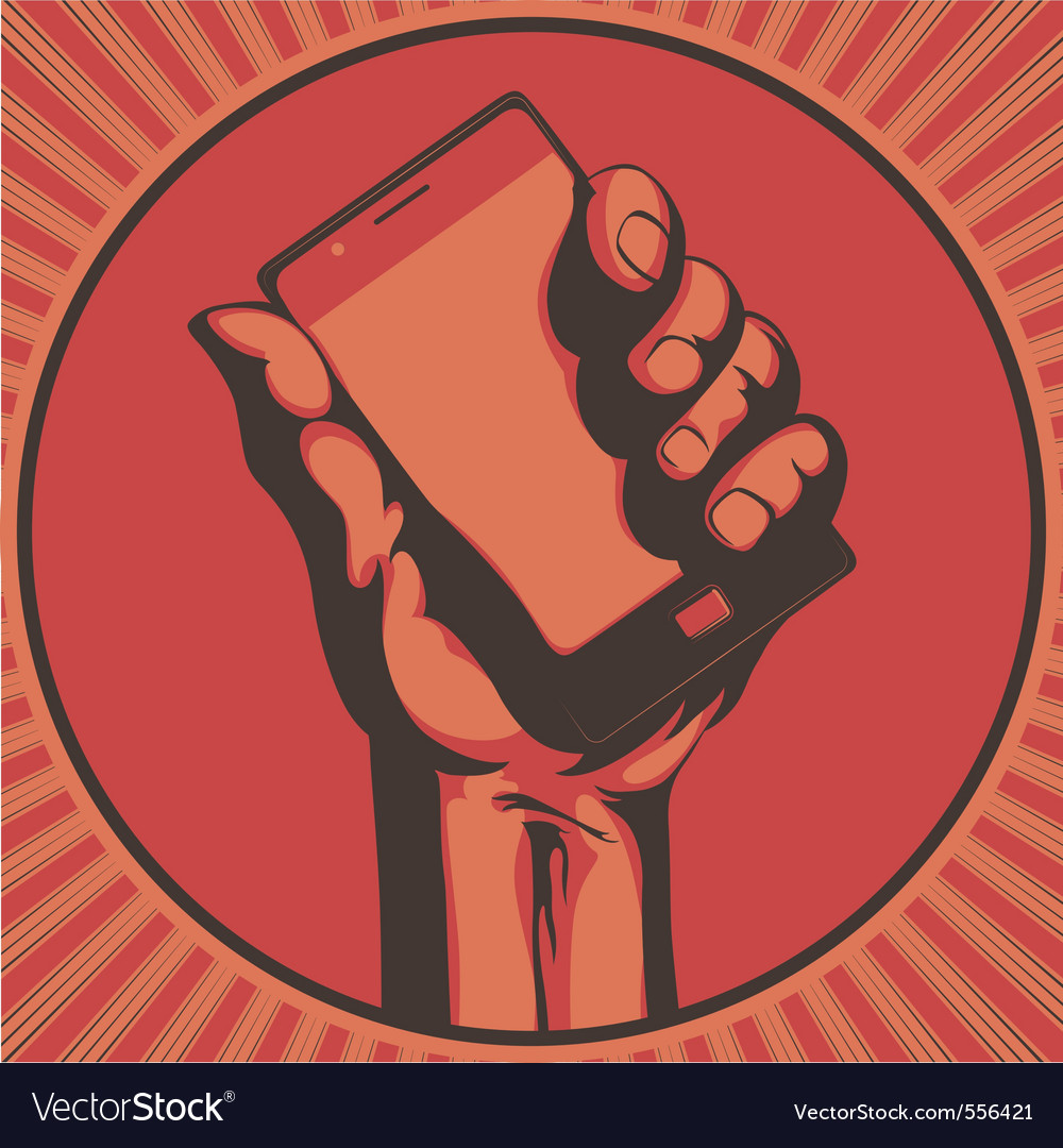 Modern mobile vector image