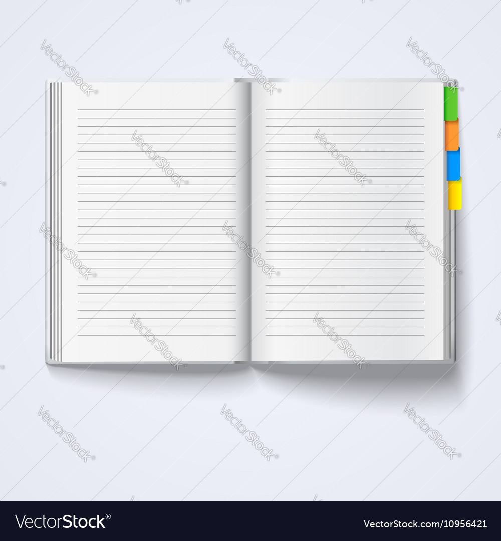 Notebook isolated on white background vector image