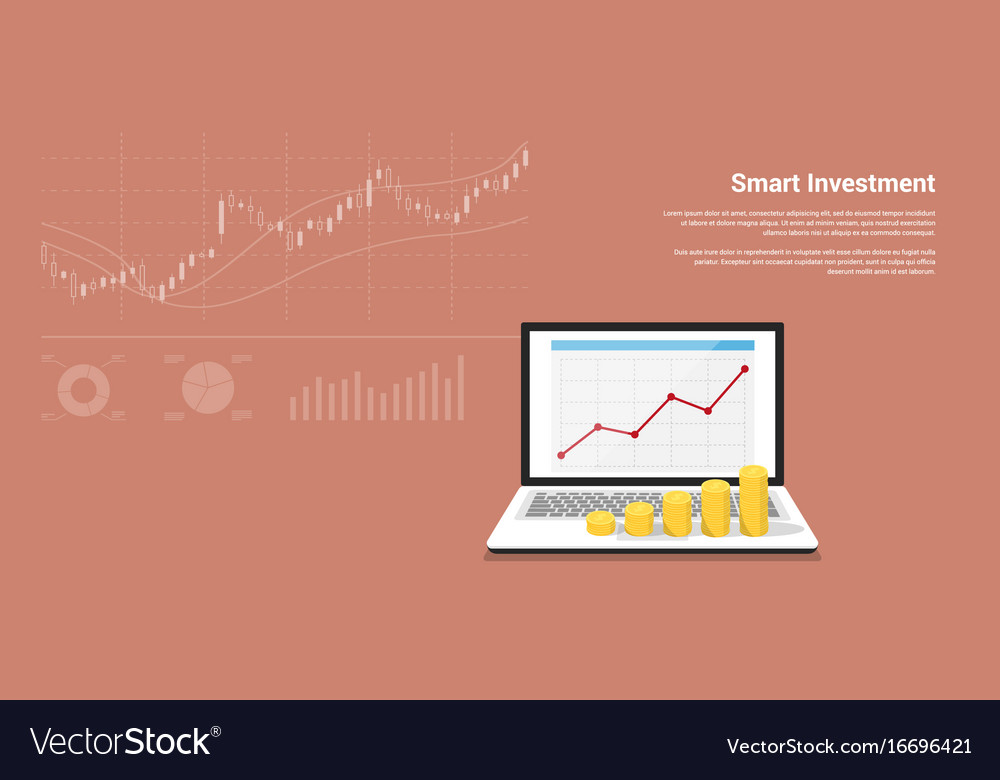Smart investment banner vector image