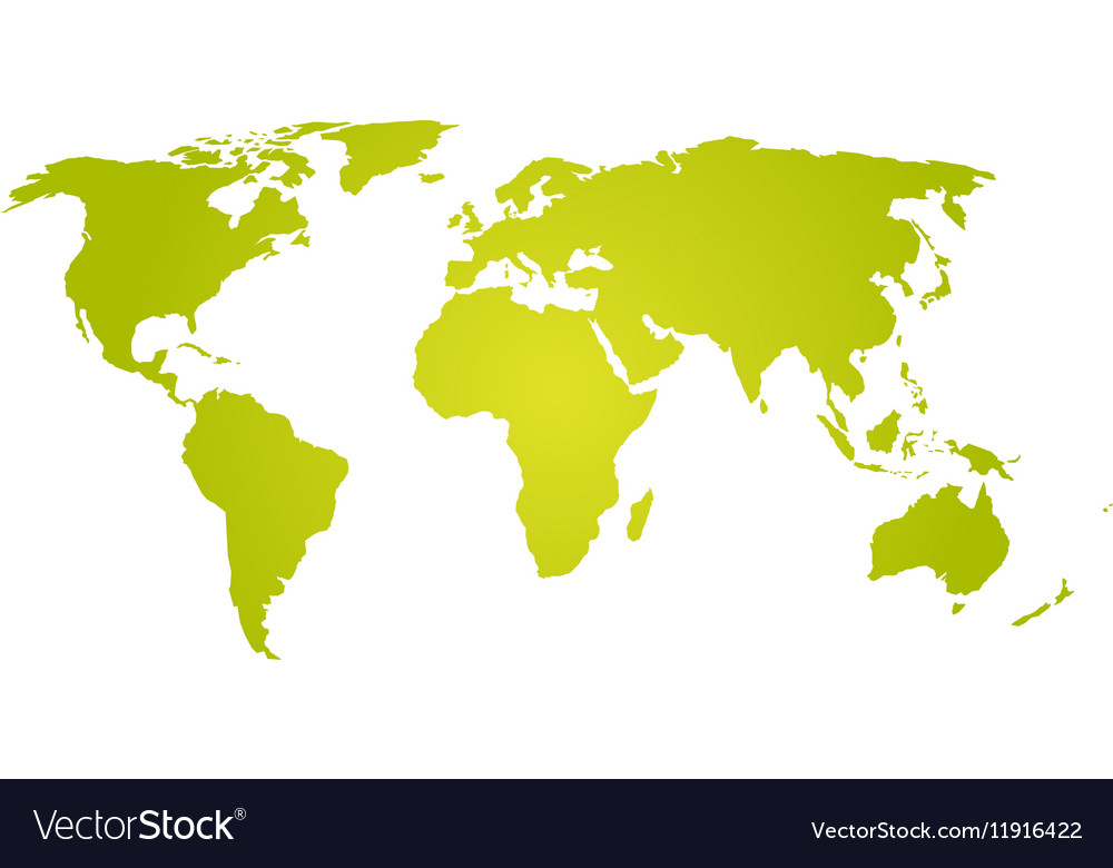 Green yellow silhouette of world map royalty free vector green yellow silhouette of world map vector image gumiabroncs
