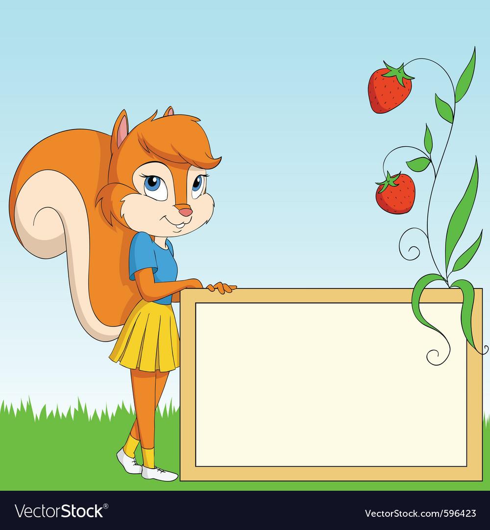 Cartoon furry squirrel vector image