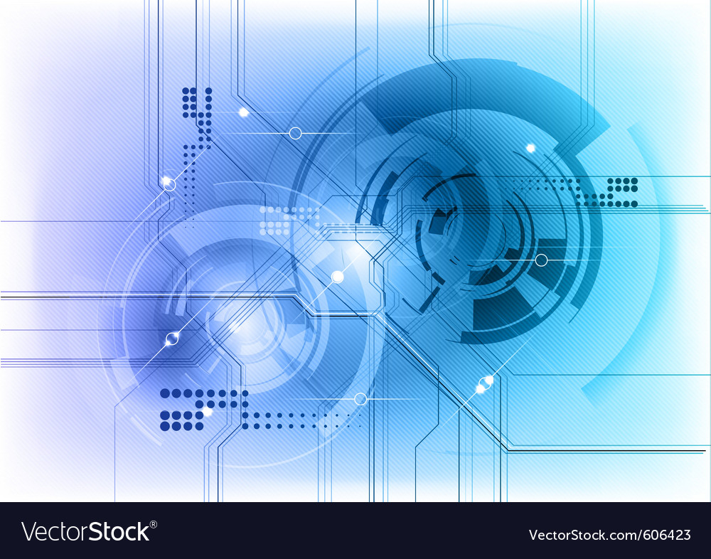 Futuristic Hi Tech Background Vector: High Tech Background Royalty Free Vector Image
