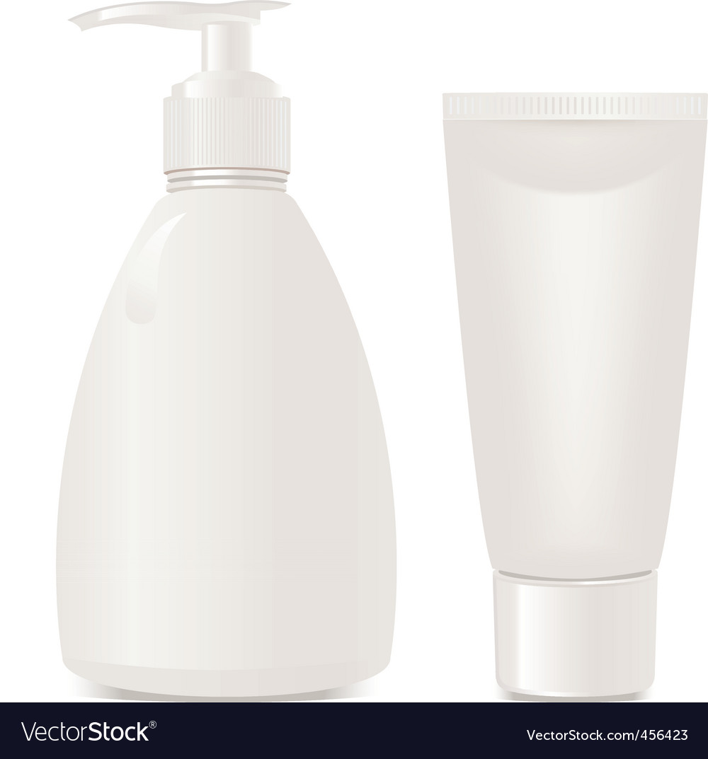 Vector cosmetics soap and gel vector image