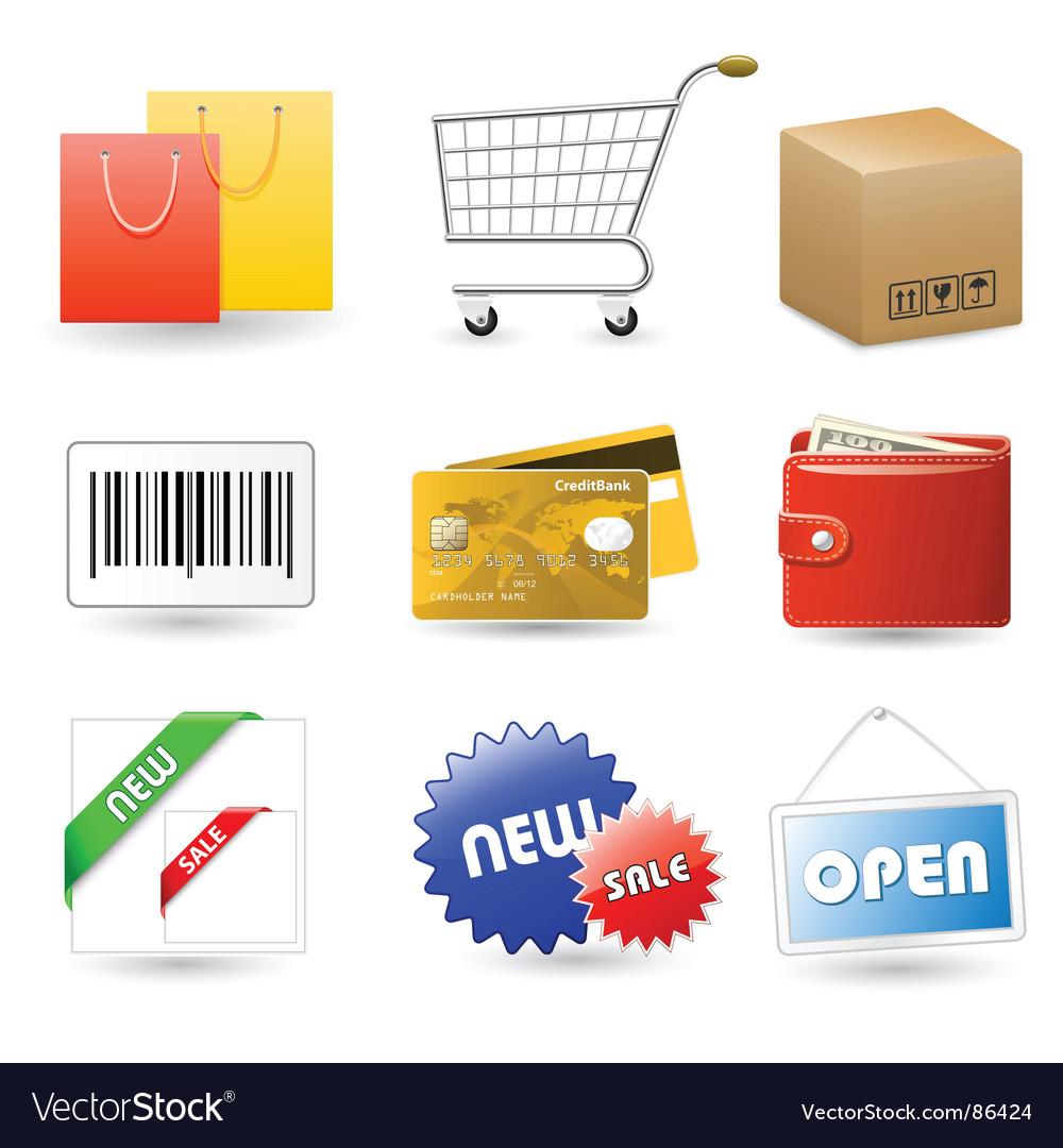 Shop set vector image