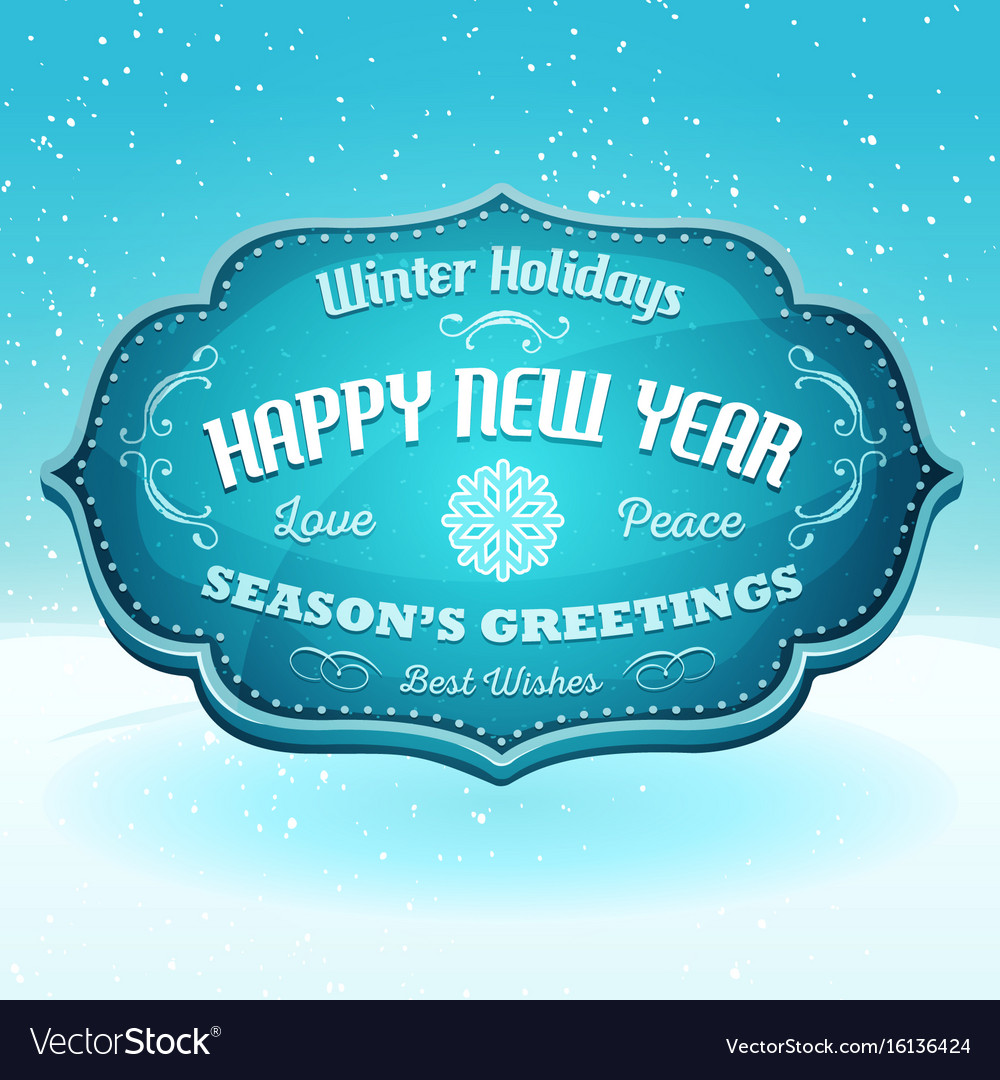 Happy new year and seasons greetings banner vector image kristyandbryce Gallery