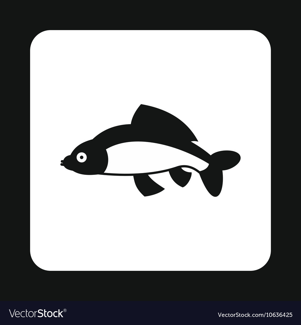 Carp icon simple style vector image