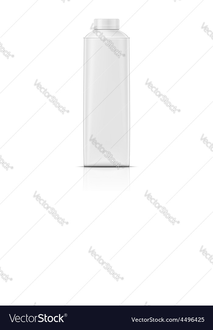 Rounded drink carton pack vector image