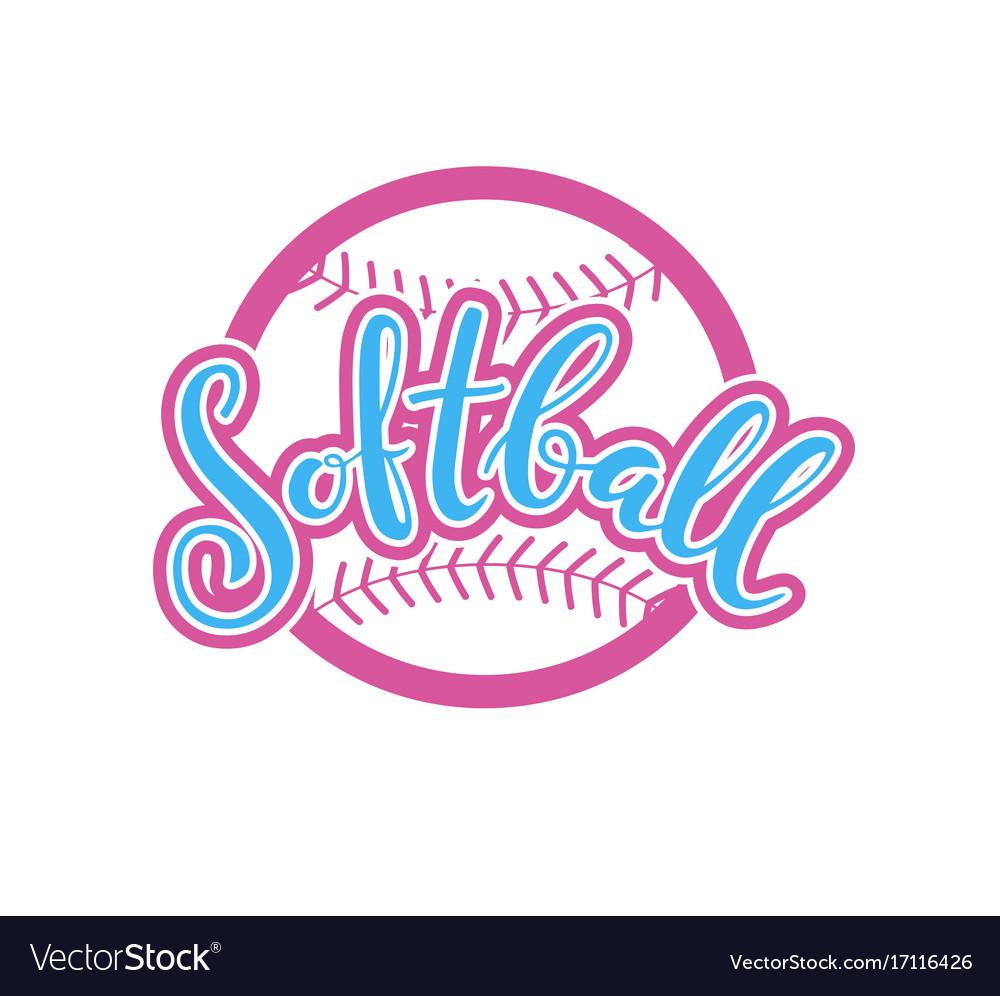 Emblem of softball vector image
