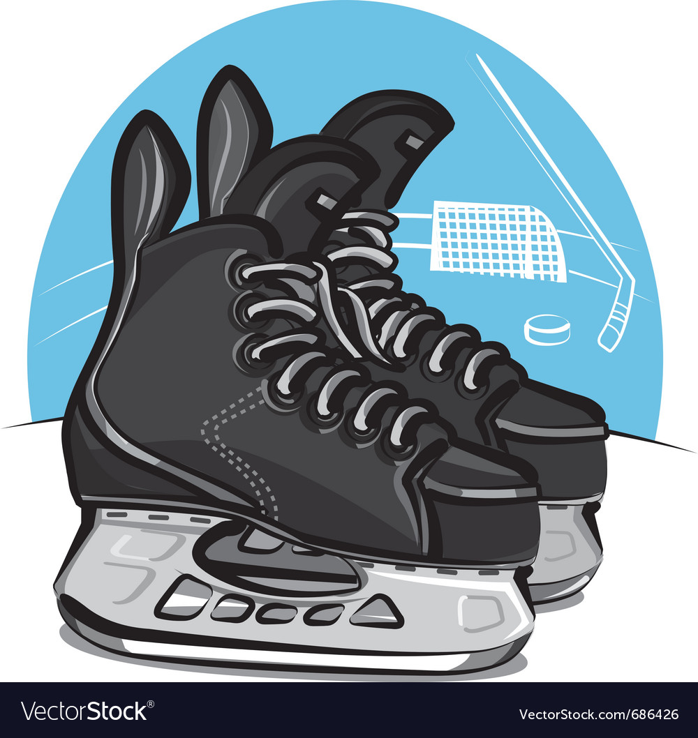 hockey skates royalty free vector image vectorstock