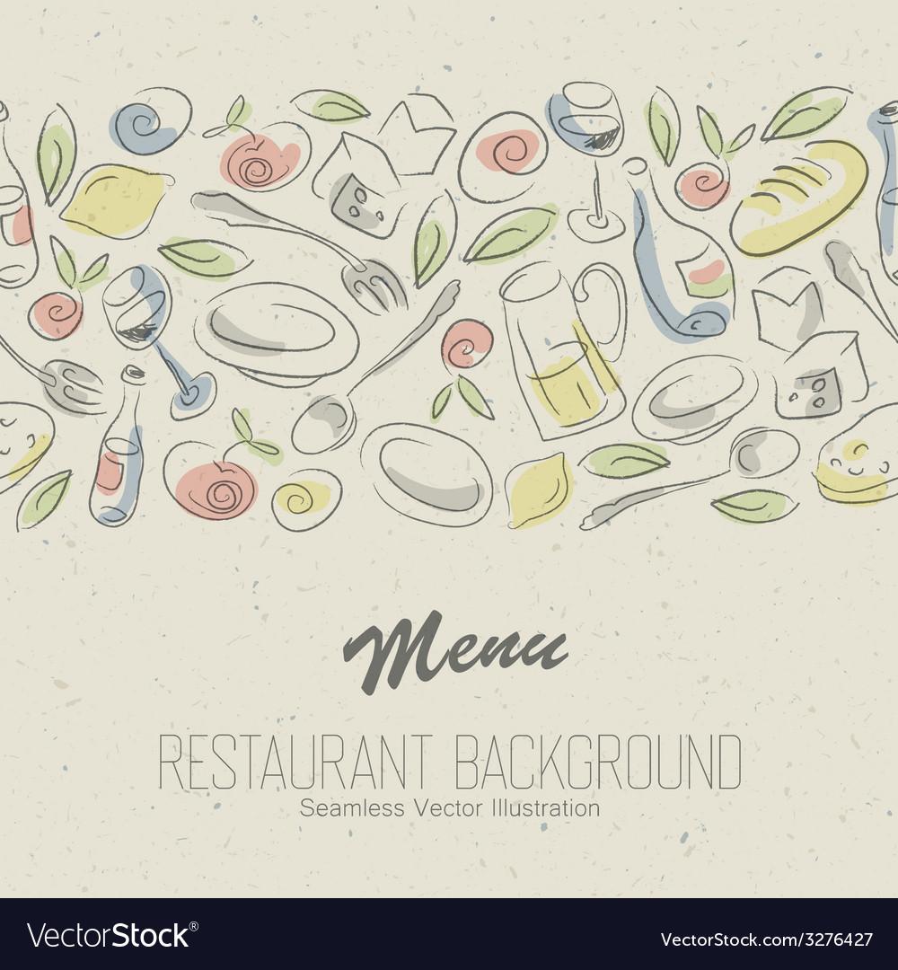 Restaurant menu elegant vector image