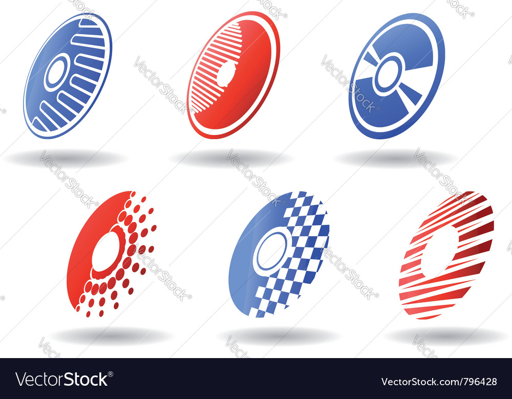 Cd and dvd symbols vector image