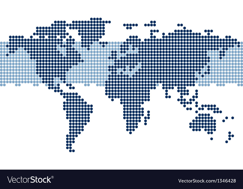 Dotted world map royalty free vector image vectorstock dotted world map vector image gumiabroncs Gallery