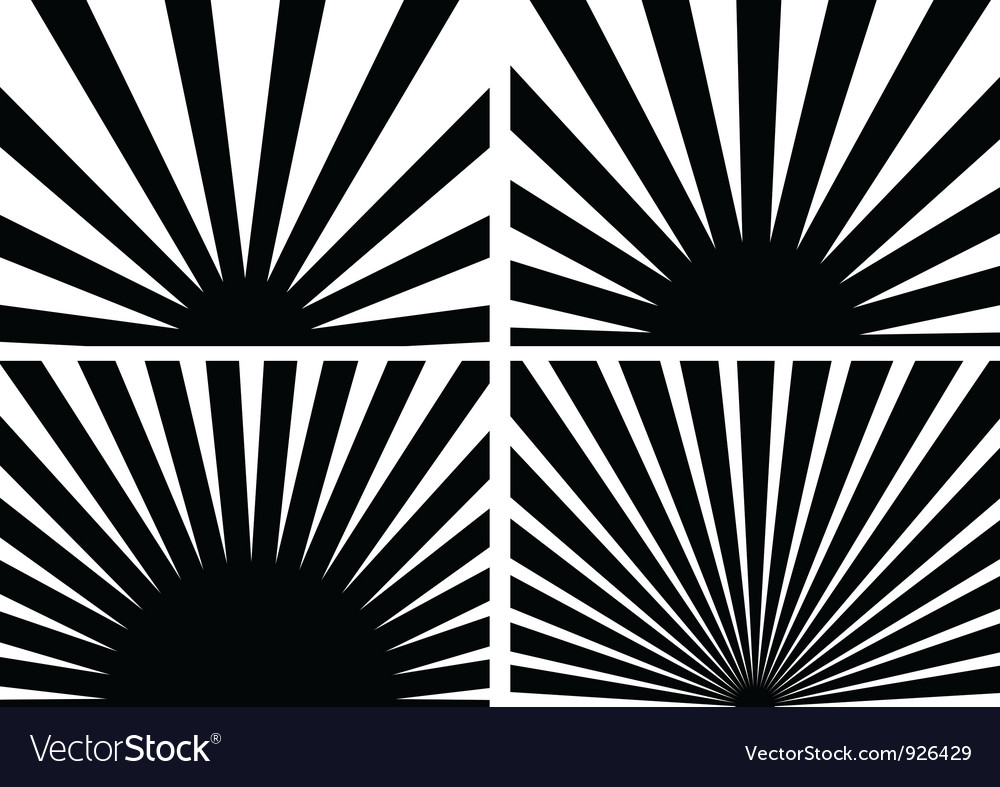 Sunrays vector image